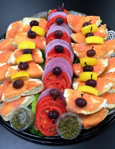 New York Marina Deli bagel and lox platter R2 reduced